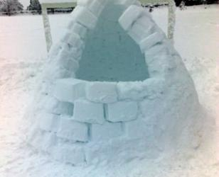 Winter 2010 image of Igloo in Bloomiehall